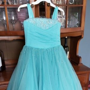 Teal sz 10 Pageant Dress